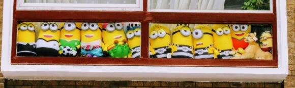 Minion Memories in a window along Porchester Place
