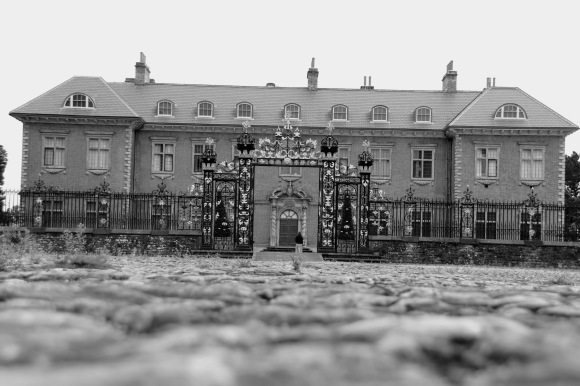 a low ground shot of the front of Tredegar House