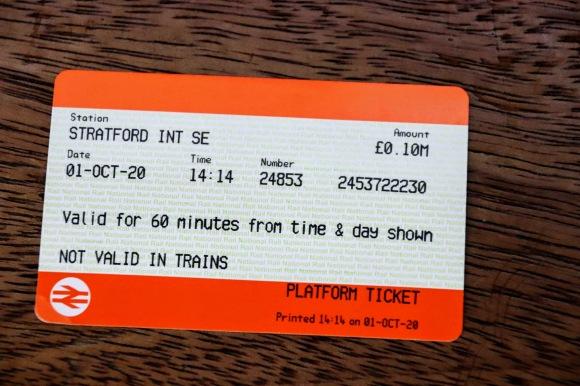 my platform ticket dated 01/10/2020 - cost £0.10p